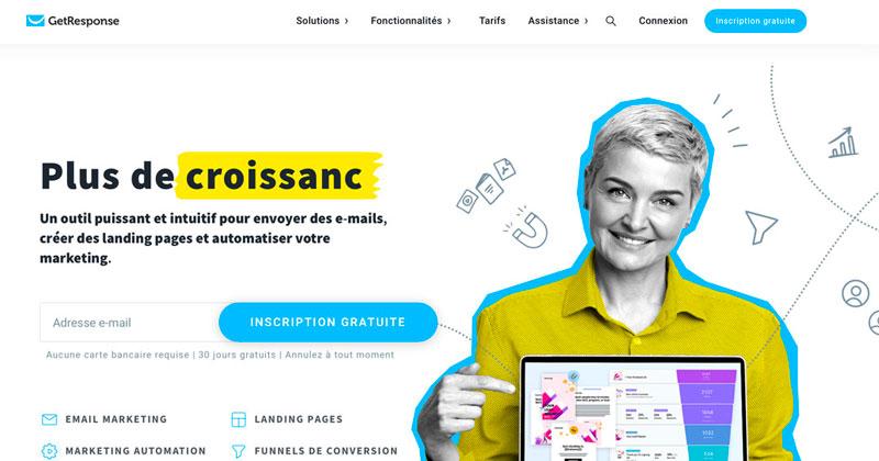 Get Response, est un outil de création d'emailing qui vous permet de créer des campagnes emailing