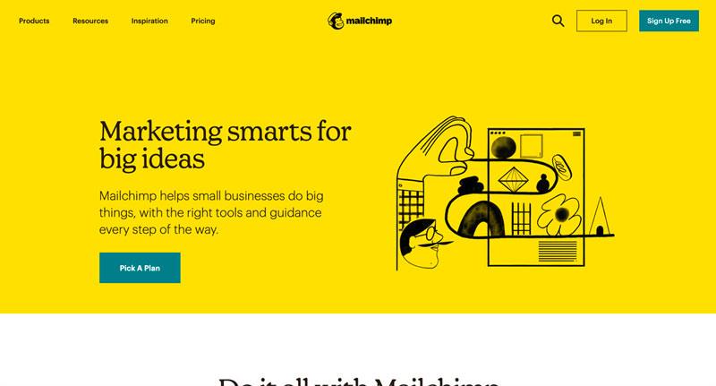 Mailchimp, plateforme de routage qui permet de créer des campagnes d'emailing professionnel